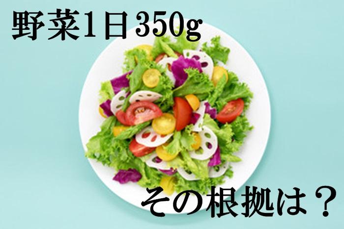 野菜1日350gの根拠