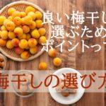 梅干しの種類と選び方【良い梅干しを選ぶポイント3つ!】