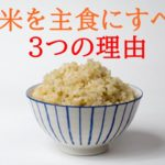 玄米と白米の違い~栄養成分を比較する~【玄米を主食にすべき3つの理由】