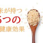 玄米が持つ5つの健康効果!【玄米食で健康的なダイエットができる?】